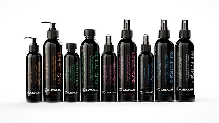 Gamme de produits de finition esthétique spécialisés de Lexus