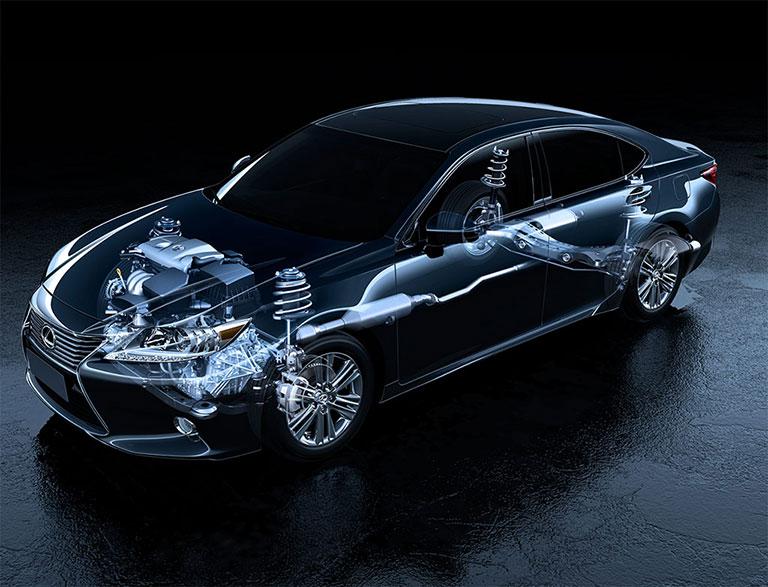 Radiographie Lexus de l'arbre de transmission, du différentiel, de la transmission, de la boîte-pont et de l'embrayage