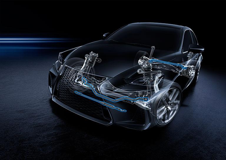 Radiographie de la suspension et des amortisseurs Lexus