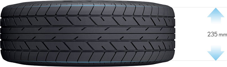 tire size 235